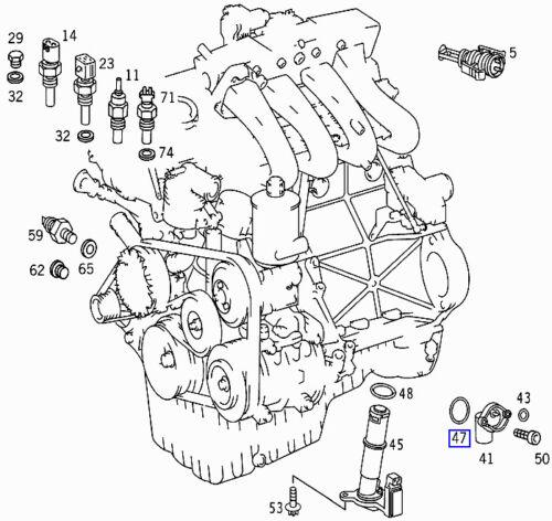 MERCEDES Motore Gomma Guarnizione o-ring A0159973948