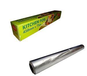 6 Aluminium  KITCHEN/CATERING FOIL  450mmX75m 18'' food