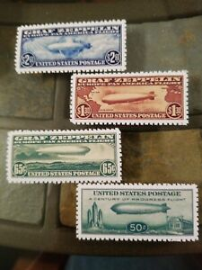 US-Stamps-C13-C14-C15-C18-Graf-Zeppelin-Air-Mail-NG-Perf-High-Quality-Replicas