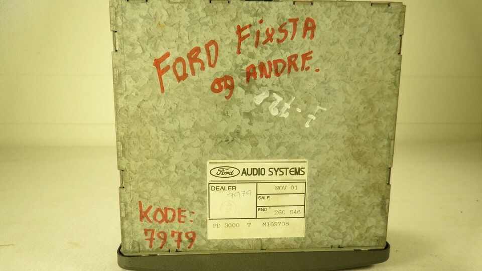 Ford Fiesta m.flere , Kassette/Radio