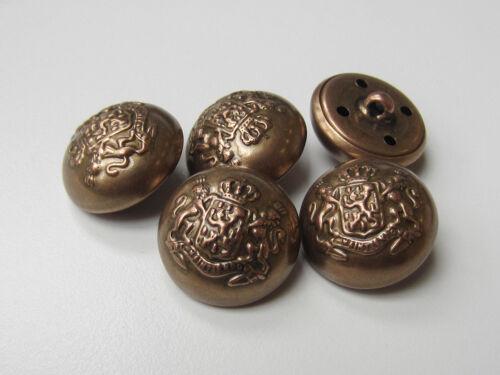 corona /& León 0448mk-23mm 3 bicolor metal chapa semiesfera botones con emblema