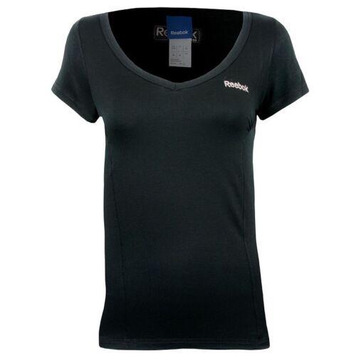 Reebok Donna Manica Corta T Shirt Top Palestra Allenamento libero consegna cingolati