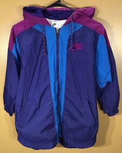 Vintage-Nike-Lined-Windbreaker-Jacket-Full-Zip-Hood-Youth-Size-Small-8