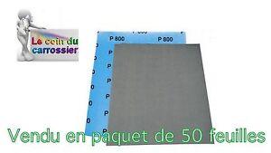 100% De Qualité 50 Feuilles Abrasives A L'eau,format 230x280mm, Grain P2500, Carrosserie(abr17)
