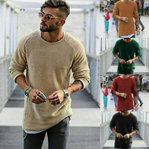 Fashion-Men-039-s-Men-Long-Sleeve-Shirt-Casual-Slim-Fit-T-shirt-Tee-Top-HOT