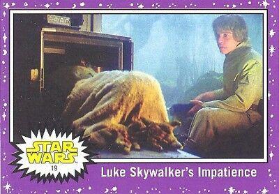 2017 Journey to Star Wars The Last Jedi Walmart Purple Parallel card #26 NM
