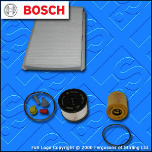 SERVICE KIT for PEUGEOT 307 2.0 HDI 16V OIL FUEL CABIN FILTERS (2004-2007)