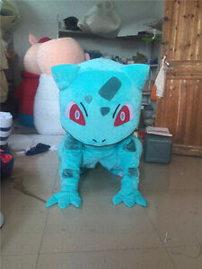 Image is loading Halloween-BULBASAUR-Pokemon-Go-Center-pikachu-Mascot- Costume- & Halloween BULBASAUR Pokemon Go Center pikachu Mascot Costume Adult ...