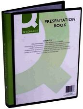 q connect presentation display book 40 pocket black kf01267 ebay