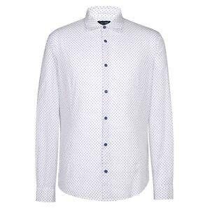 ARMANI-Jeans-Bianco-W-Blu-Marino-dots-shirt-Taglia-M-NUOVO-CON-ETICHETTE-RRP-130