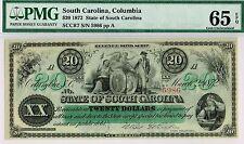 $20 South Carolina Revenue Bond Scrip. PMG 65 EPQ Gem Uncirculated.