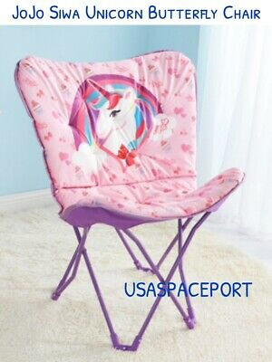 New Jojo Siwa Unicorn Plush Folding Butterfly Chair Faux