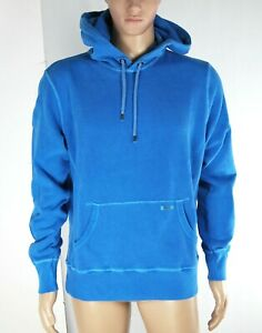 Felpa-Uomo-Cappuccio-FRANKLIN-amp-MARSHALL-Italy-Hoody-Azzurro-Blu-H094-Tg-L