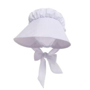 Vintage-Women-Victorian-White-Bonnet-Maid-White-Sun-Hat-Civil-War-Hat