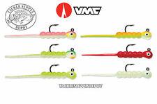 6 NEW VMC Tungsten Wax Tail Jig Rigged Orange Chartreuse 1//32oz #10 TWTJ132OCGL