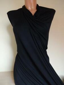 13-98-m-Stoff-elastische-stretch-Viskose-Jersey-in-schwarz-1-70m-Breit