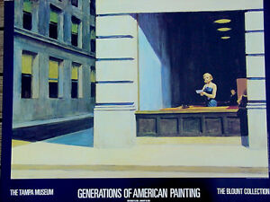 Image Is Loading Edward Hopper New York Office 1962 Tampa Museum