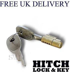 Brass coupling trailer caravan hitch lock key style