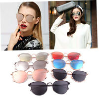 Women Sunglasses Cat-eye Arrow Shapes Mirror Oval Cateye Men Sunglasses Hh