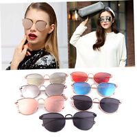 Women Sunglasses Cat-eye Arrow Shapes Mirror Oval Cateye Men Sunglasses Z1