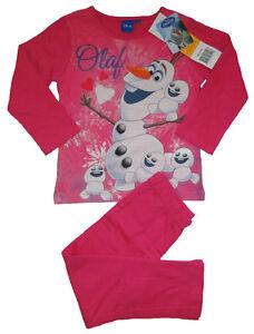 Mädchen Schlafanzug Frozen Die Eiskönigin DISNEY Pyjama Nachtwäsche