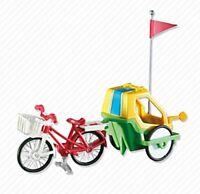 Playmobil Add On 6388 Bike W/child's Trailer - New, Sealed