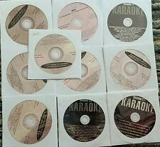 10 CDG LOT KARAOKE OLDIES COUNTRY - KENNY ROGERS,JOHN DENVER CD+G 20i
