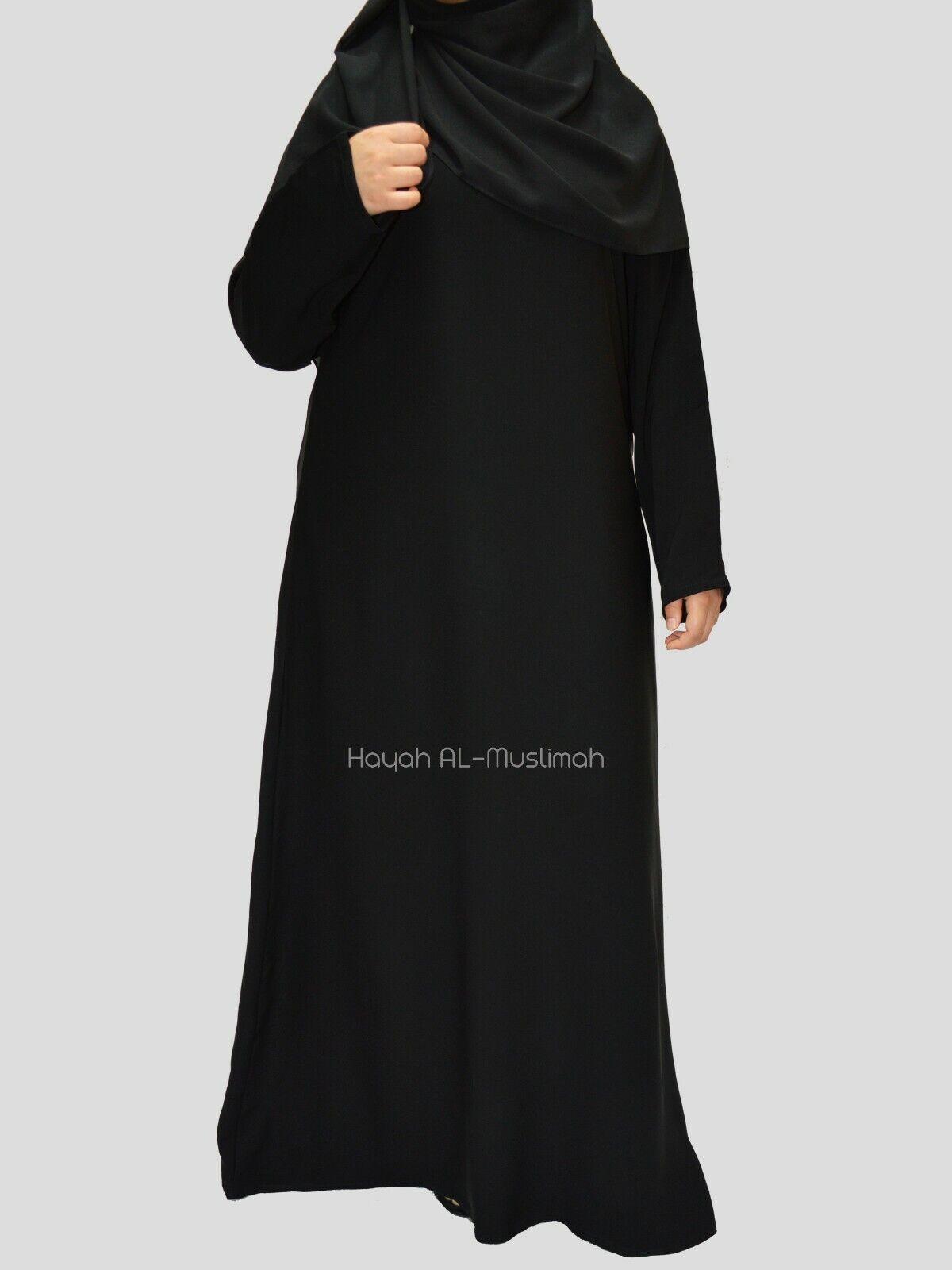 Plain Dubai Abaya / Burqa With Pocket Made by premium soft Nida fabric in Dubai