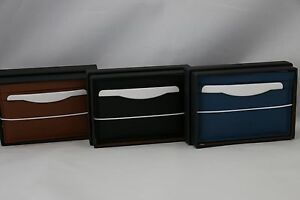 Saddle COACH Boxed Card Case in Leather / Wallet or Denim Black 75302B