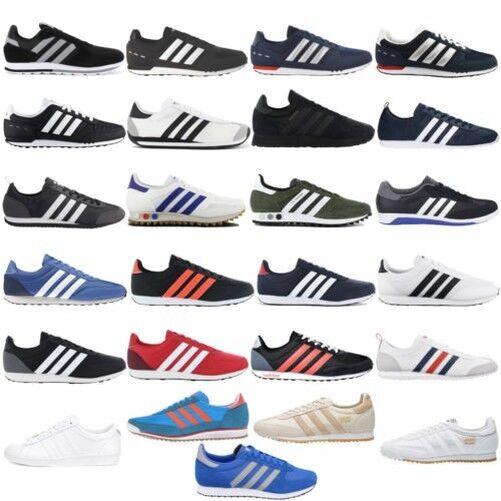 Adidas Zapatillas Estilo Deportivas Para Hombre Retro de ocio cuero textil