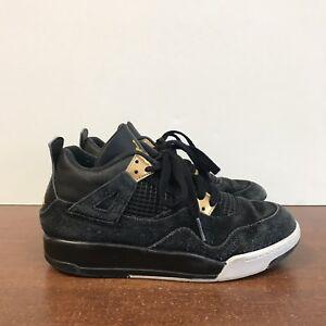 b8df38d5acb Youth Air Jordan 4 Retro BG Royalty Black Gold 308499 032 Size 3Y