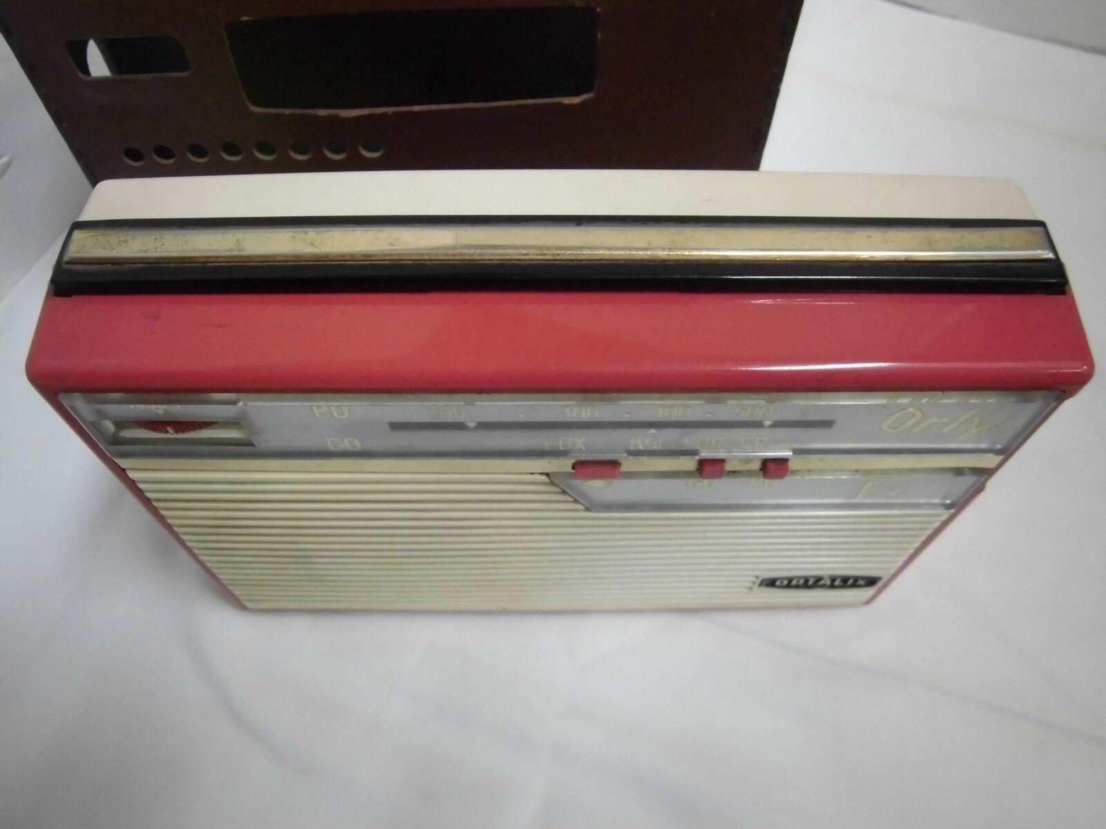 50s 60s Radio Portatile Orly OPTALIX OPTALIX OPTALIX Radio in borsa pelle francetransistorradio b96193