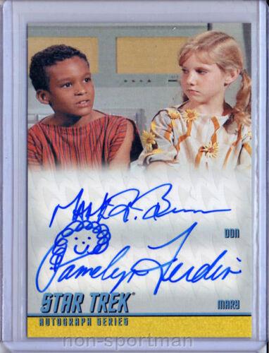 STAR TREK REMASTERED DA18 BROWN AND FERDIN AUTOGRAPH
