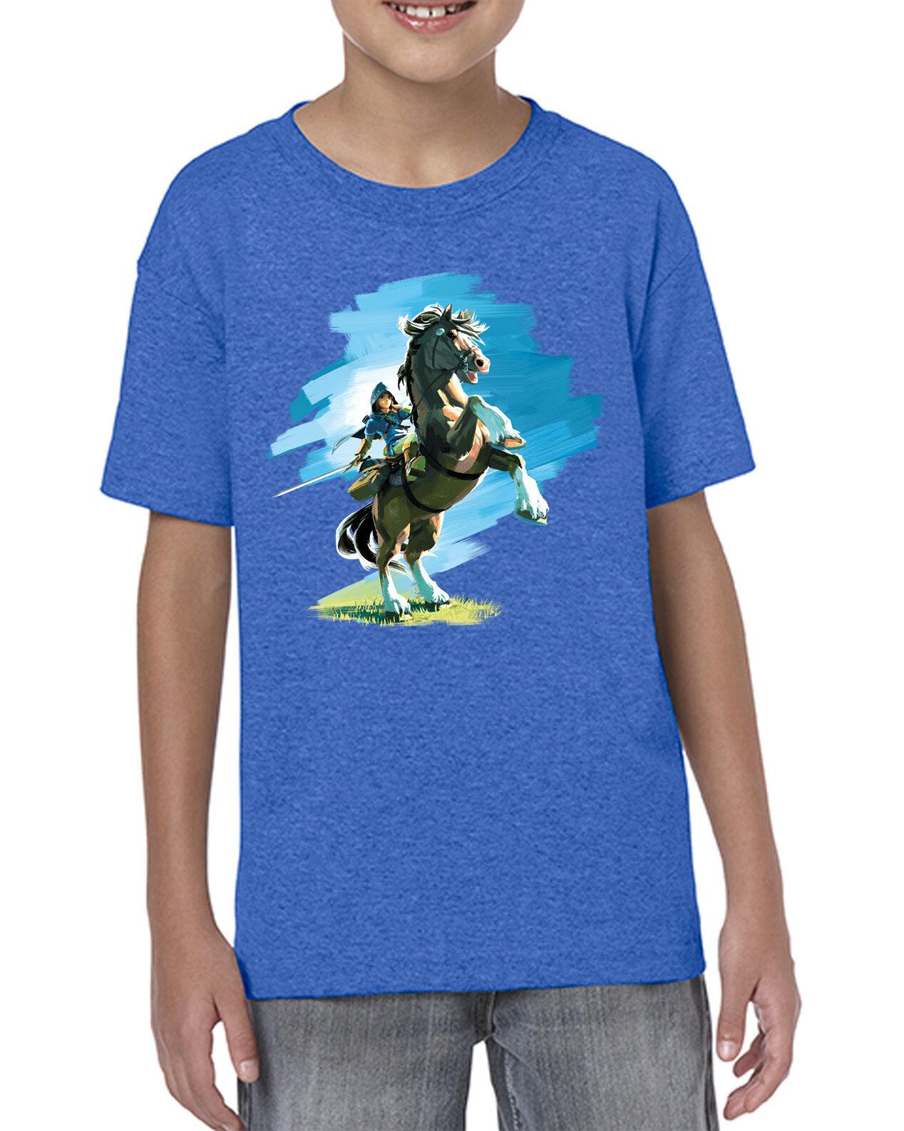[ Kids ] Link Riding Horse Epona Zelda BOTW Inspired T-shirt