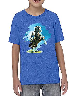 Kids Link Epona Zelda BOTW Inspired T-shirt
