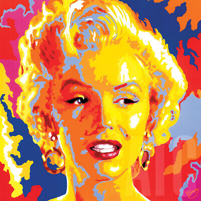 "33/""x33/"" MARILYN MONROE by VLADIMIR GORSKY HOLLYWOOD ICON Repro POP ART CANVAS"