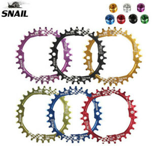 SNAIL-BCD104mm-30T-MTB-Bike-Chainring-Mountain-Narrow-Wide-Round-Sprocket-Bolts