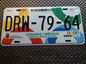 USA Nummernschild Mexico Chiapas top