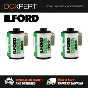 ILFORD-DELTA-400-3-PACK-36-EXPOSURES-35mm-BLACK-amp-WHITE-NEGATIVE-FILM