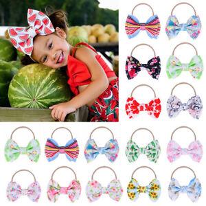 Head-Wraps-Knotted-Nylon-Hairband-Elastic-Turban-Baby-Big-Bow-Headband
