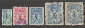 Luxembourg-revenue-fiscal-Cinderella-stamps-collection-mix-ml465