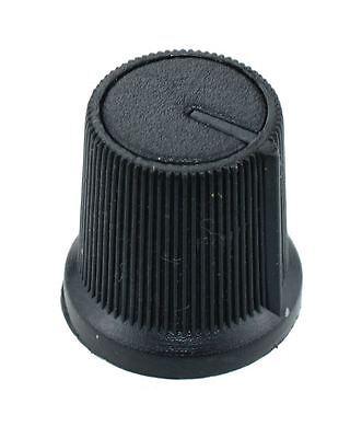 10 x Black 6mm Pointer Potentiometer Control Knob