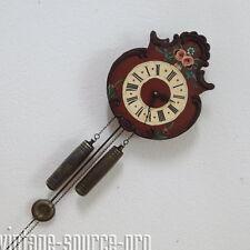 alte Pendeluhr Schilderuhr Bauernuhr mit Halbstundenschlag auf Glocke 60er Jahre