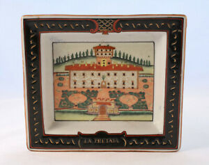 Vintage-Wong-Lee-1895-WL-Porcelain-Plate-Trinket-Dish-La-Petraia-Villa