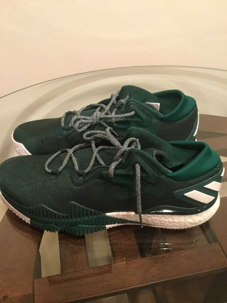 New Adidas Crazy Light Boost Low 2 Green Men's Basketball Shoe 13.5 New W/O Box