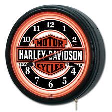 """Harley-Davidson Nostalgic Bar & Shield Neon Clock 20""""/ Harley Davidson Neon sign"""