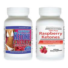 2 RASPBERRY KETONE MEGA EXTREME #1 SELLER Fat Weight Loss 1200 mg + KETONES