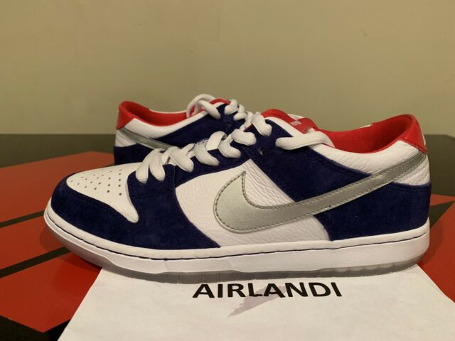 nike low dunks pro white with red