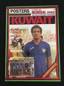 POSTER-DESPLEGABLE-SAGA-DEL-MUNDIAL-82-SELECCION-KUWAIT-1982