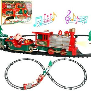 Red Gift for Kids Children Train Toy Compatibility Wooden Track Small Train Toys Car for Toddlers Battery Operated Action Locomotive Train Kids Toys Electric Train Toy